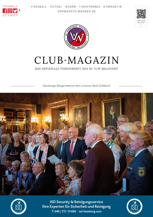 SC VW Billstedt Club·Magazin Nr. 9 September · Saison 2019/20