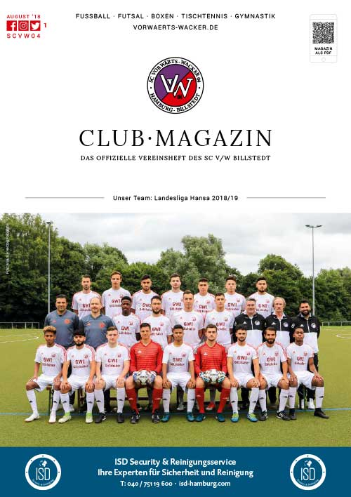 SC VW Billstedt Club·Magazin Nr. 1 August · Saison 2018/19