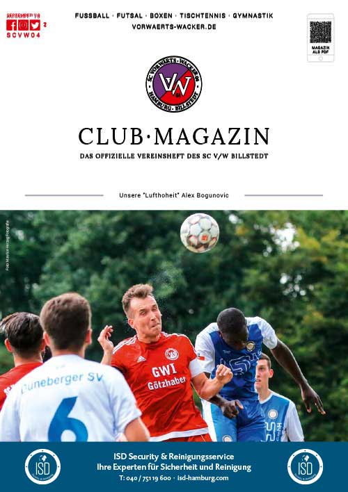 SC VW Billstedt Club·Magazin Nr. 2 September · Saison 2018/19