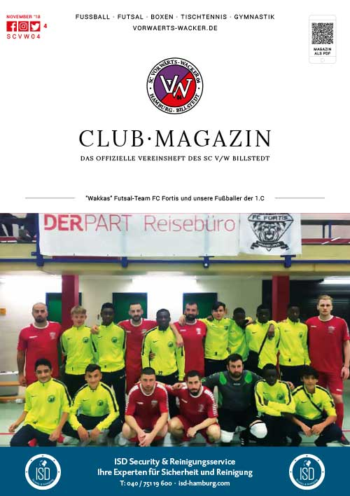 SC VW Billstedt Club·Magazin Nr. 4 November · Saison 2018/19