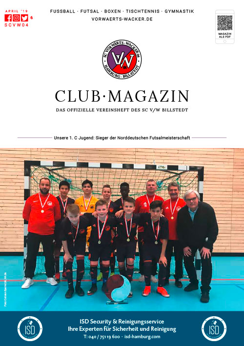 SC VW Billstedt Club·Magazin Nr. 6 April · Saison 2018/19
