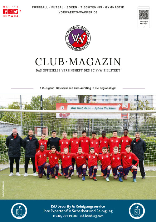SC VW Billstedt Club·Magazin Nr. 7 Mai · Saison 2018/19