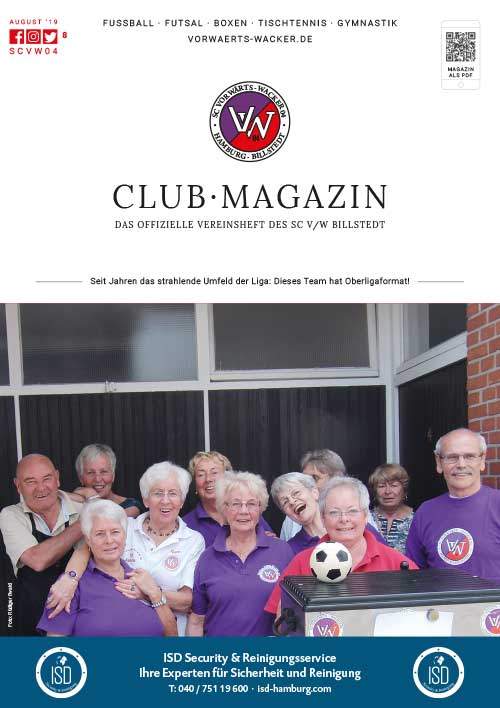 SC VW Billstedt Club·Magazin Nr. 8 Mai · Saison 2019/20