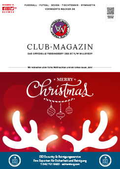 SC VW Billstedt Club·Magazin Nr. 11 November · Saison 2019/20